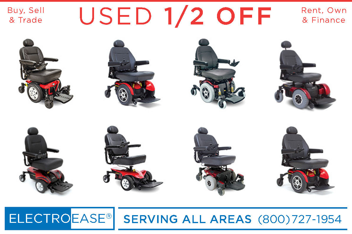 USED PRIDE JAZZY ELECTRIC WHEELCHAIR POWERCHAIRS 1/2 OFF REGULAR PRICE