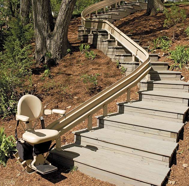 bruno outdoor CRE2110E outside curved exterior san jose stairlift