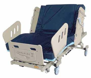 burkebariatric triflex II  bariatric bed Los Angeles CA Santa Ana Costa Mesa Long Beach  heavy duty large extra wide electric power adjustable medical mattress 3-motor high low fully electric reverse trendellenburg