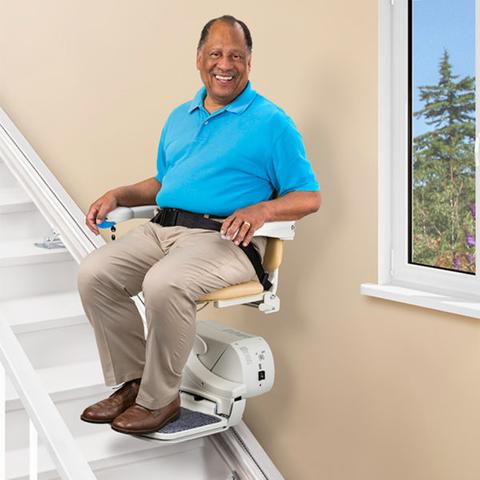 electropedic straight rail stairchair