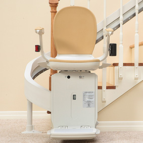 Riverside curved stair lift